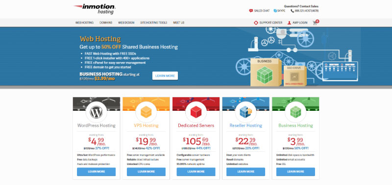 inmotion-business-hosting-multiple-websites