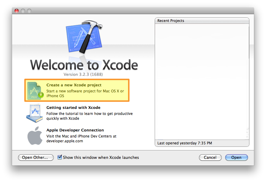 xcode-create-new-project