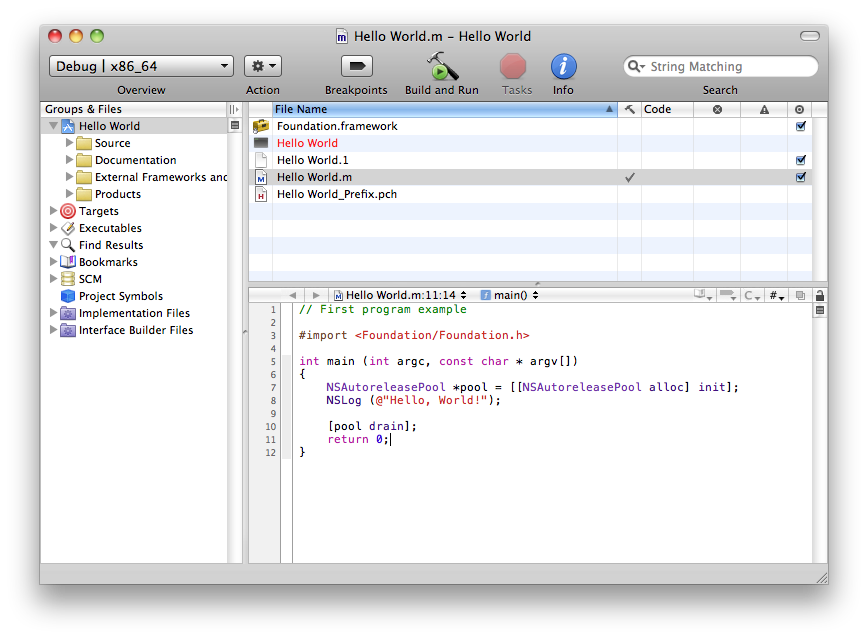 xcode-hello-world