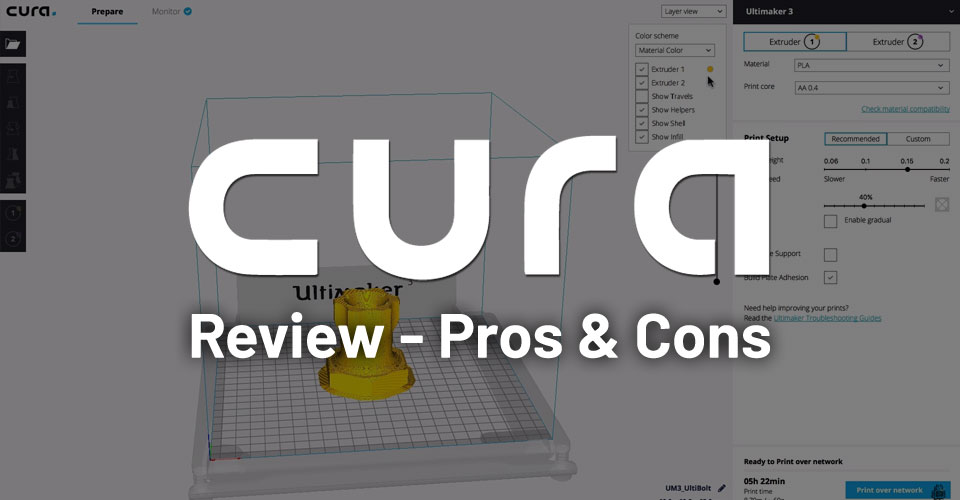 Ultimaker Cura 3D Printing Software Review